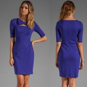 TRINA TURK Romanova Cut Out Dress in Q Blue 10